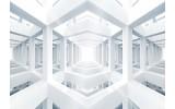 Fotobehang Vlies   Abstract   Grijs,Wit   368x254cm (bxh)