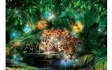 Fotobehang Vlies | Luipaard | Groen, Bruin | 368x254cm (bxh)