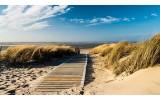Fotobehang Strand | Blauw, Crème | 152,5x104cm