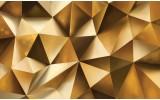 Fotobehang Vlies | Design, 3D | Goud | 368x254cm (bxh)
