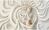 Fotobehang Vlies | Abstract | Goud, Wit | 368x254cm (bxh)