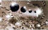 Fotobehang Vlies | Abstract | Grijs, Zilver | 368x254cm (bxh)