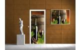Fotobehang Wine | Groen | 91x211cm