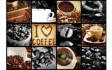 Fotobehang Vlies | Koffie | Bruin, Grijs | 368x254cm (bxh)