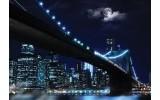 Fotobehang Vlies   New York   Grijs, Blauw   368x254cm (bxh)