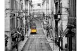 Fotobehang Vlies | Straat | Grijs, Geel | 368x254cm (bxh)