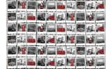 Fotobehang Vlies | London | Zwart, Rood | 368x254cm (bxh)
