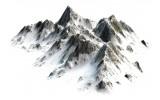 Fotobehang Vlies | Bergen | Wit, Grijs | 368x254cm (bxh)