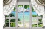 Fotobehang Vlies   Zee, Natuur   Groen, Blauw   368x254cm (bxh)