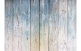 Fotobehang Vlies | Hout | Grijs, Blauw | 368x254cm (bxh)