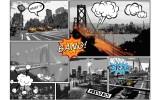 Fotobehang Vlies | New York | Zwart, Oranje | 368x254cm (bxh)