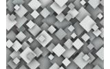 Fotobehang Vlies | 3D, Modern | Grijs, Wit | 368x254cm (bxh)
