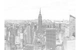 Fotobehang Vlies | New York | Grijs, Wit | 368x254cm (bxh)