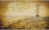 Fotobehang Vlies | Strand, Molen | Geel | 368x254cm (bxh)