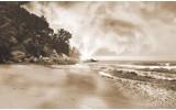 Fotobehang Vlies | Zee, Strand | Bruin | 368x254cm (bxh)