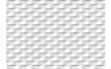 Fotobehang Vlies | 3D, Design | Wit, Grijs | 368x254cm (bxh)