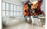 Fotobehang Vlies | Dinosaurus, 3D | Bruin | 368x254cm (bxh)