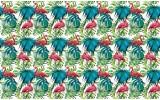 Fotobehang Vlies | Flamingo | Groen, Blauw | 368x254cm (bxh)