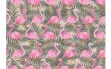 Fotobehang Vlies | Flamingo | Roze, Grijs | 368x254cm (bxh)