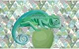 Fotobehang Vlies | Modern, Kameleon | Groen | 368x254cm (bxh)