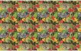 Fotobehang Vlies   Jungle   Rood, Groen   368x254cm (bxh)
