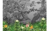 Fotobehang Vlies | Natuur | Zwart, Groen | 368x254cm (bxh)