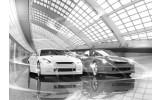 Fotobehang Vlies | Auto | Zwart, Grijs | 368x254cm (bxh)