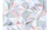 Fotobehang Vlies | Modern | Blauw, Roze | 368x254cm (bxh)