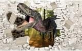 Fotobehang Vlies   3D, Dinosaurus   Bruin, Wit   368x254cm (bxh)