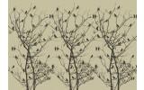 Fotobehang Vlies | Vogels, Boom | Zwart | 368x254cm (bxh)