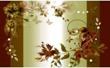 Fotobehang Vlies | Bloemen | Groen, Bruin | 368x254cm (bxh)