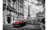 Fotobehang Vlies | Parijs | Zwart, Rood | 368x254cm  (bxh)