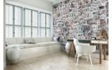 Fotobehang Vlies | Muur, Stenen | Grijs | 368x254cm  (bxh)