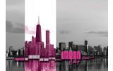 Fotobehang Vlies | Stad | Zwart, Roze | 368x254cm (bxh)