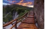 Fotobehang Vlies | Natuur, Waterval | Bruin | 368x254cm (bxh)