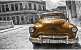 Fotobehang Oldtimer, Auto | Grijs, Goud | 312x219cm