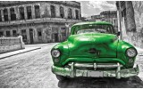 Fotobehang Papier Oldtimer, Auto | Grijs, Groen | 254x184cm