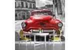 Fotobehang Oldtimer, Auto | Grijs, Rood | 416x254