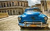 Fotobehang Vlies   Oldtimer, Auto   Blauw, Bruin   368x254cm (bxh)
