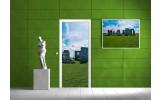 Deursticker Muursticker Natuur | Groen, Blauw | 91x211cm
