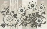 Fotobehang Bloemen | Grijs | 104x70,5cm