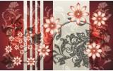 Fotobehang Papier Bloemen | Rood, Grijs | 368x254cm