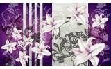Fotobehang Vlies | Bloemen | Paars, Grijs | 368x254cm (bxh)