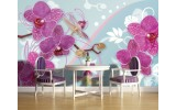 Fotobehang Papier Orchideeën, Bloemen | Roze | 368x254cm