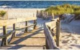 Fotobehang Strand | Geel | 104x70,5cm