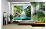 Fotobehang Papier Natuur | Groen, Grijs | 368x254cm