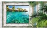 Fotobehang Natuur | Groen, Blauw | 208x146cm
