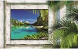 Fotobehang Papier Natuur | Groen, Blauw | 254x184cm