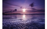 Fotobehang Strand, Zee | Paars | 208x146cm