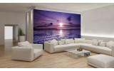 Fotobehang Papier Strand, Zee | Paars | 368x254cm